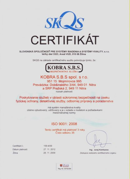 certifikat iso 9001 2008