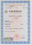 Licencia na prevádzkovanie Strážnej služby